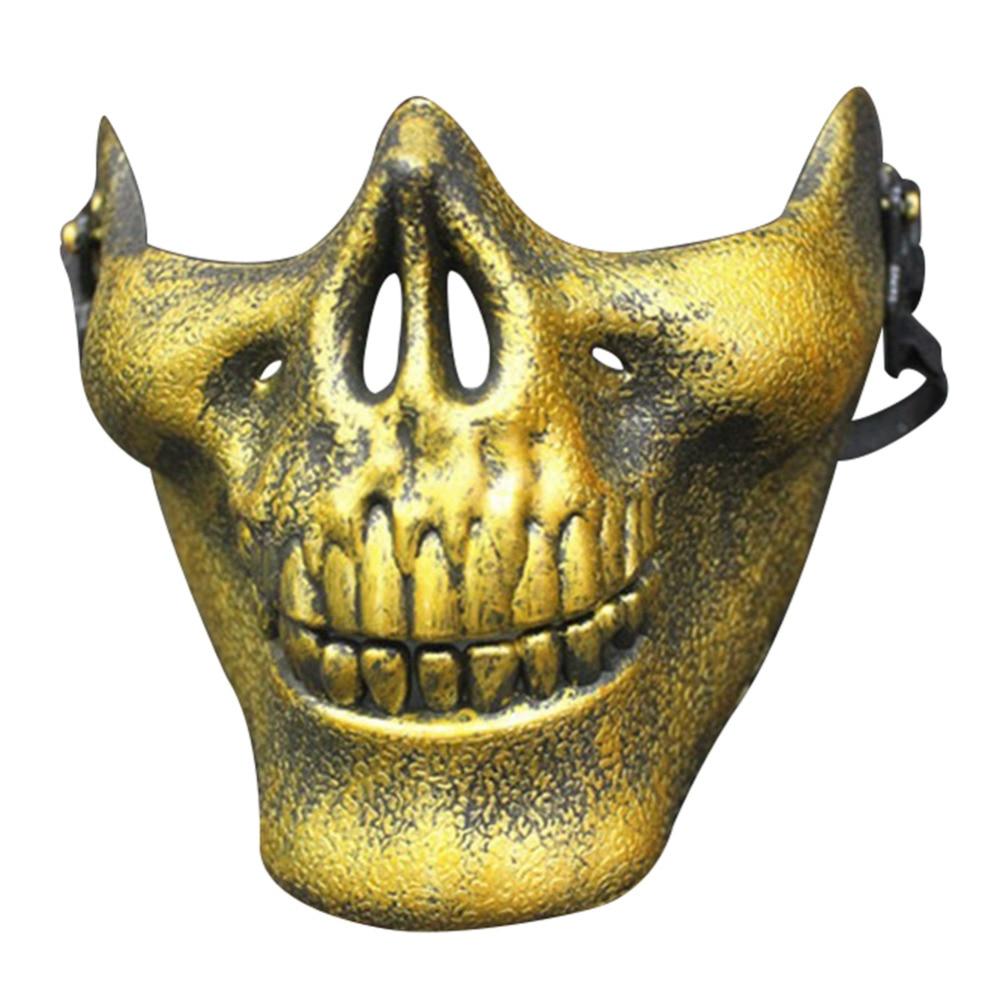 Carnival Gift Scary Skull Skeleton Paintball Lower Half Face ...