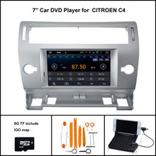 Android 7.1 Quad Core CAR DVD for CITROEN C4 2004-2012 SAT NAV CAR STEREO+1024X600 SCREEN /WIFI/3G+DSP+RDS+16GB flash