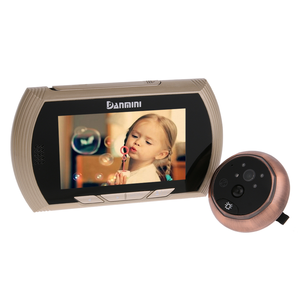 4.3 inch LCD Screen Doorbell Viewer Digital Door Peephole Viewer Camera Door Eye Video record 160 Degrees Night vision