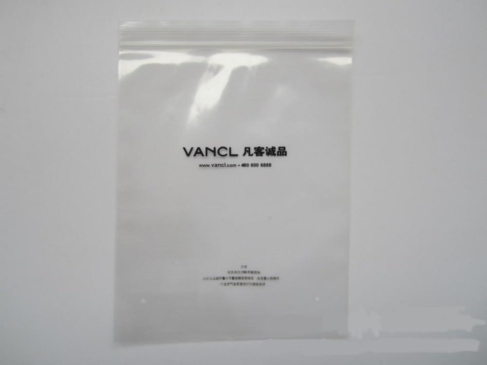 Custom Printed Logo Zip Lock Bag Ziplock Plastic Gift Opp