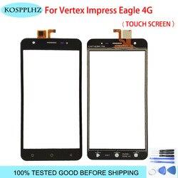5.0 cal dla Vertex Impress Eagle 4G ekran dotykowy przedni szklany panel naprawa digitizera części wymiana obiektywu telefon komórkowy + narzędzia