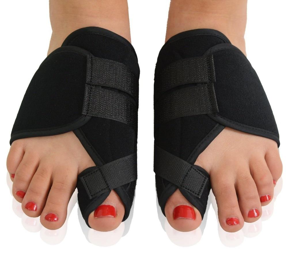 Black Bandage Brace Toe Separator Velet Toe Spacer Feet Hallux Valgus Bone Care Thumb Orthopedic Toe Correction Support