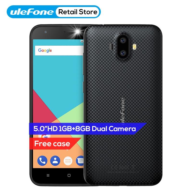 Ulefone S7 Handy Dual Hinten Kameras 5,0 zoll HD MTK6580A Quad Core Android 7.0 1 gb RAM 8 gb ROM 8MP Cam 3g WCDMA Handy