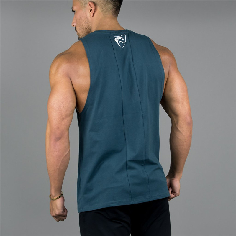 New ALPHALETE Gyms Clothing Bodybuilding   Tank     Tops   Men Fitness Singlet Sleeveless Shirt Cotton Muscle Guys Brand Undershirt