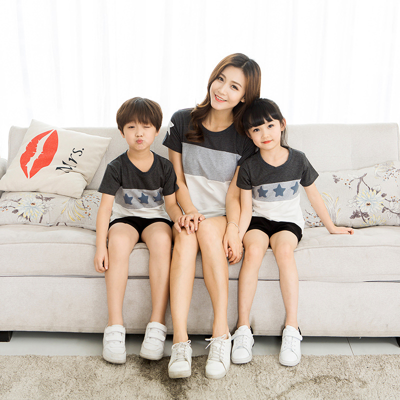 HTB1gS54ecuYBuNkSmRyq6AA3pXah - Lovers Suit T Shirt Family Matching Outfits Mother Father Kids Girl Boys Shirts Clothes Mom Dad Son Outfits Family Look Clothing