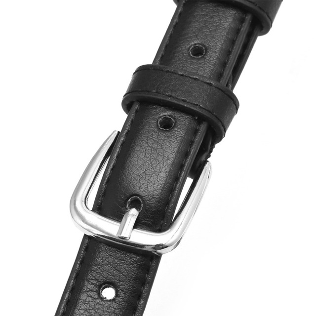 Leather Metal Pin Buckle Waist Belt Waistband
