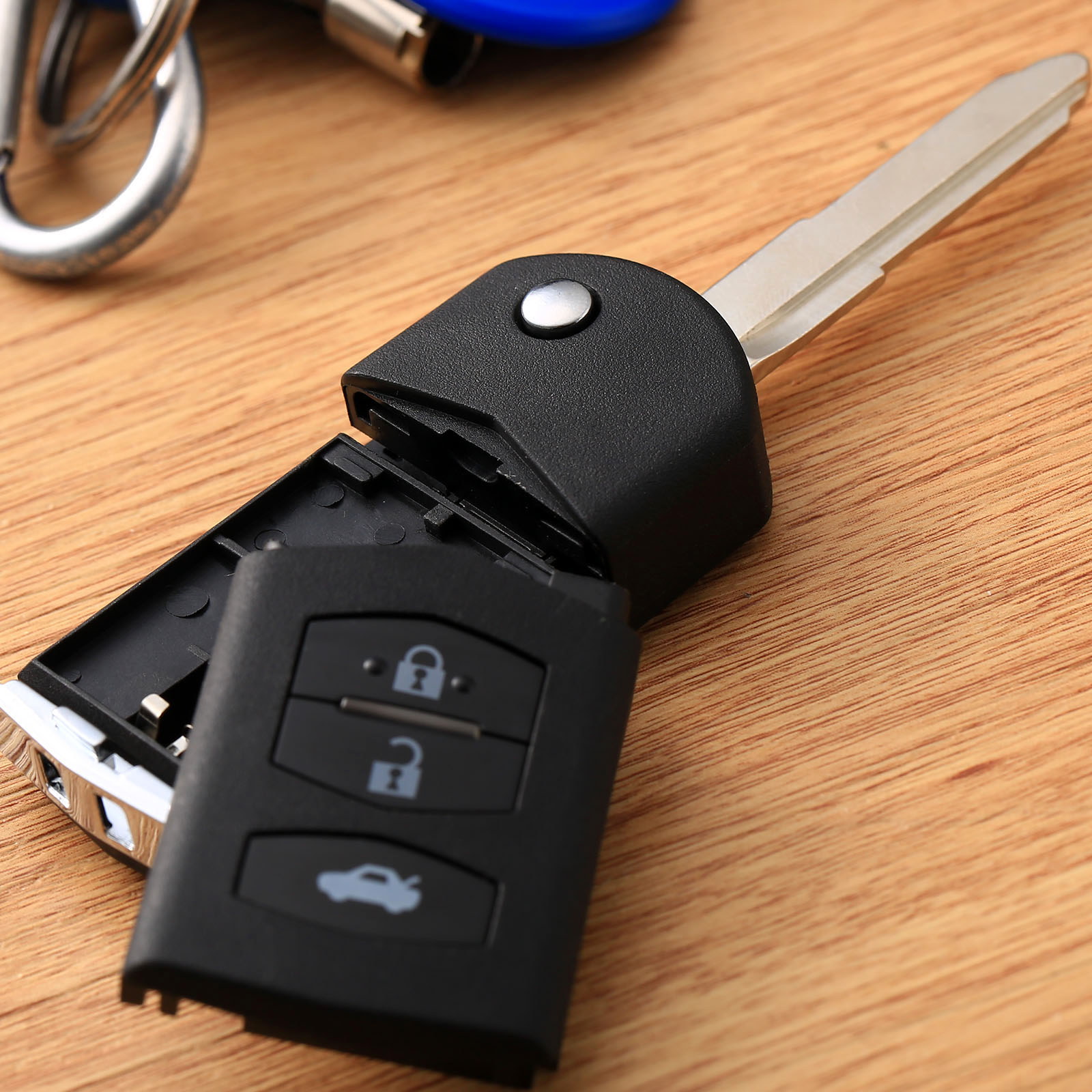 Auto Car Replacement Keyless Entry Key Fob 3 Buttons Flip Key Shell Remote Folding Key Case Fob Cover for Mazda 2 3 5 6 RX8 MX5 in Key Shell from Automobiles Motorcycles