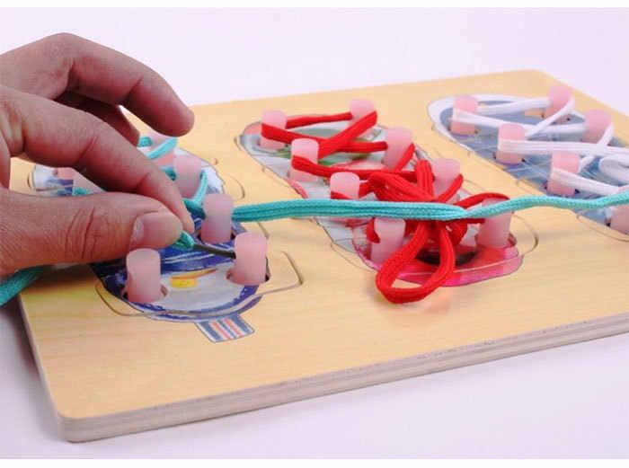 ¡Novedad! juguetes de madera Montessori de 30x22 cm, juguetes educativos y de aprendizaje para niños de alta calidad