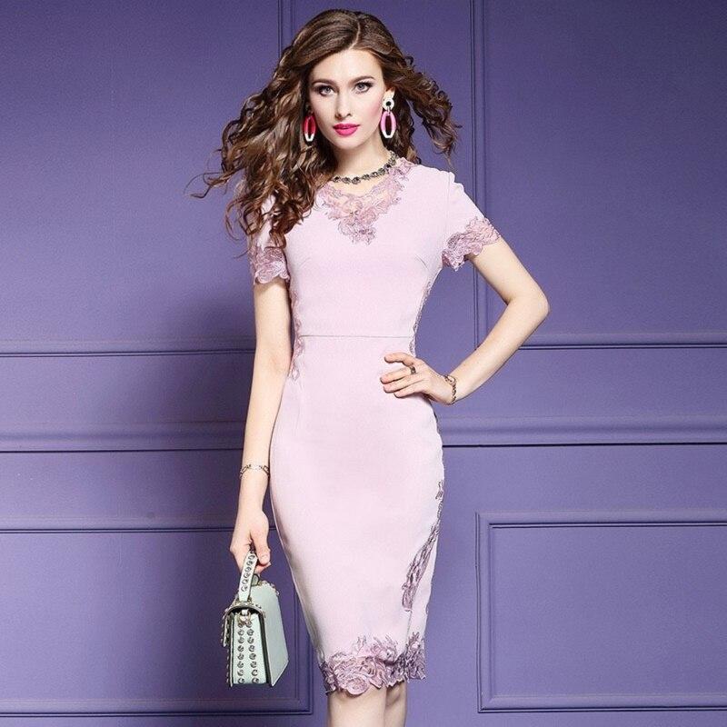 2019 new Luxury Designer Celebrities party dress autumn Women Pencil Dress Short sleeve Plus Size summer