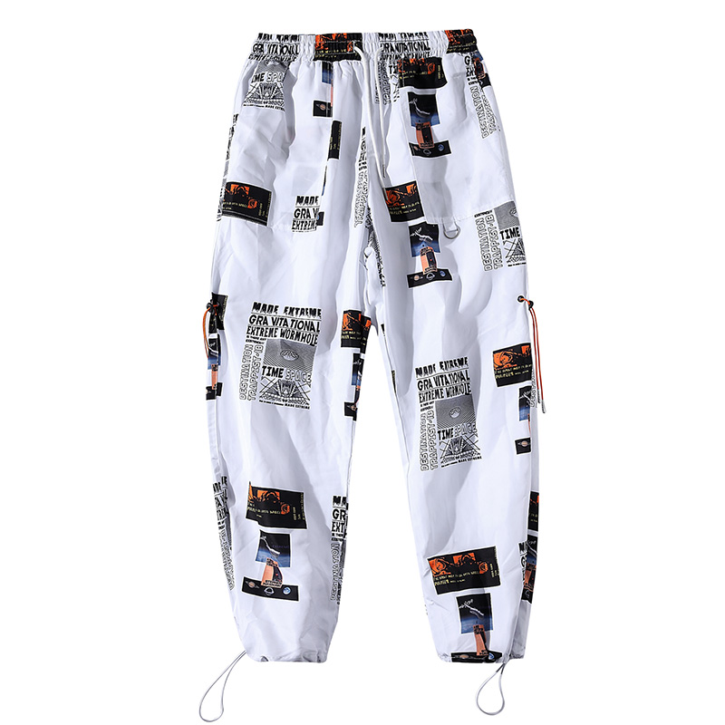drop shipping Hip Hop Sportswear Ankle-length Pants Casual Sweatpants Fitness Joggers Men Pants Street Trousers ABZ40
