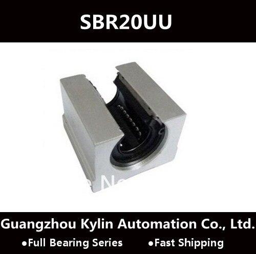 4pcs SBR20UU 20mm Open Linear Bearing Slide Linear Motion Block