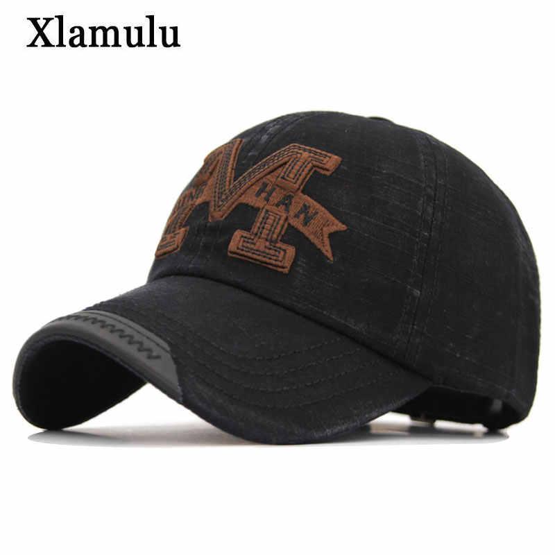 Xlamulu New Brand Cotton Baseball Cap Snapback Hats For Men