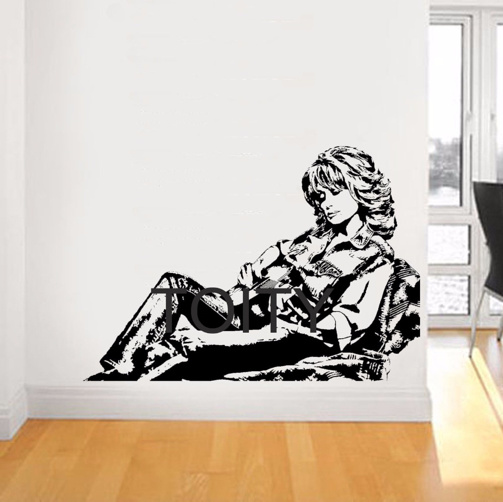 Dolly Parton Wall Sticker Country Music Singer Vinyl Decals American Celebrity Artist Art Decor Home Room Interior Retro Mural image