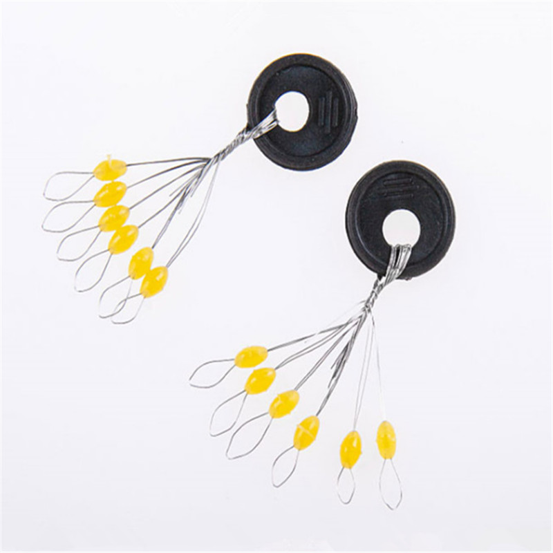 60Pcs/lot 10 set Yellow Rubber Stopper Fishing Line Resistance Space Beans Fishing Equipment Fishing Tackle Accurate Positioning цена