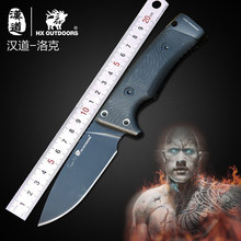 D2 blade Portable Tactical army Survival camping knife high hardness G10 handle hunting knife hand tools With K Sheath 59-61 HRC lw hunting knife fixed blade vg 10 blade g10 handle outdoor camping survival rescue knives 59 hrc hardness straight and k sheath