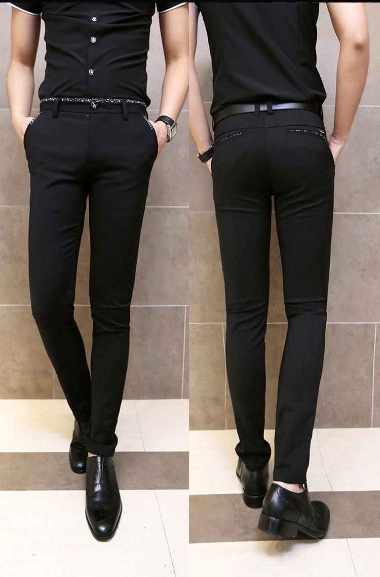 Aliexpress.com : Buy Korean fashion mens black pants slim skinny ...