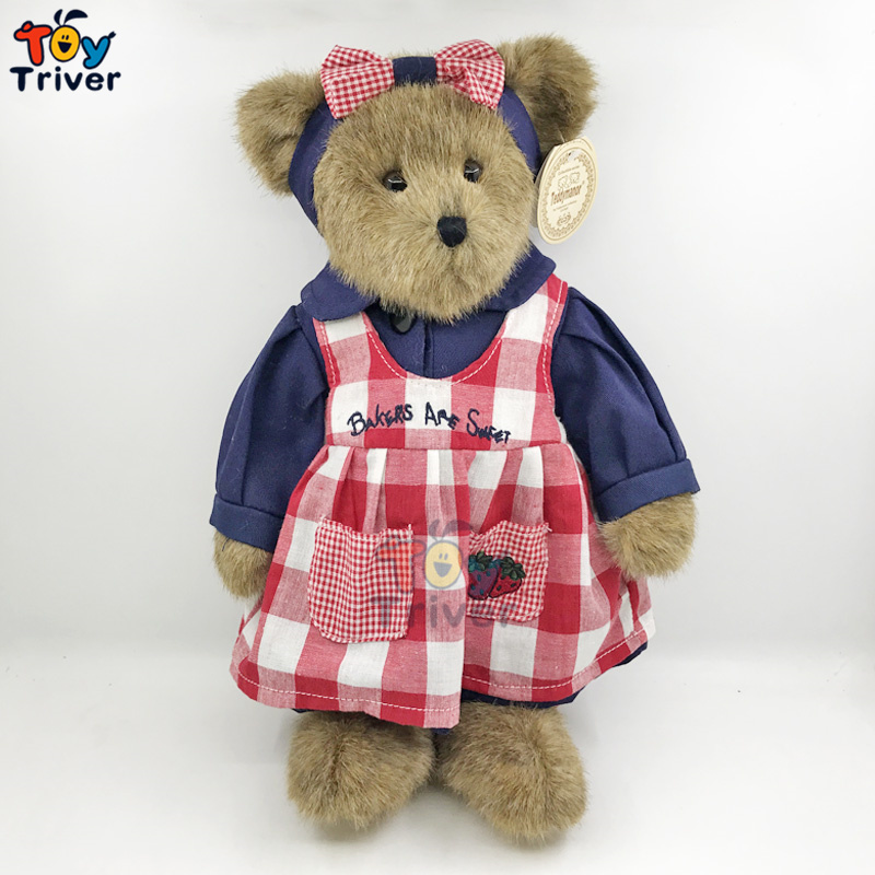 Top Quality Kawaii Plush Teddy Bear Soft Toy Stuffed Handmade Animal Bears Doll Birthday Gift Home Shop Decor Triver