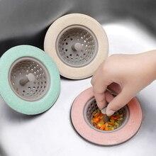 Soft Silicone-Rubber Kitchen Sink Strainer Bathroom Drain Cover Colander Sewer Hair Catcher Filter Accessories