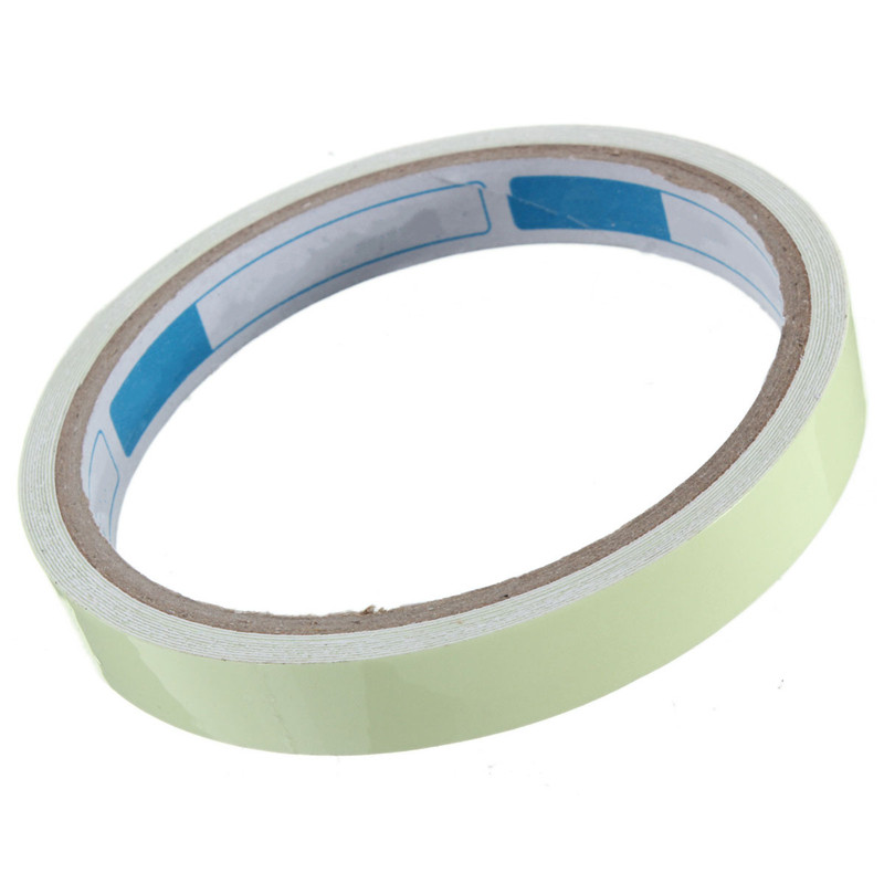 2pcs A Lot 12mm Width Self-adhesive Luminous Tape Strip Glow In The Dark Green Home Decor For Stair Entrance Stairways