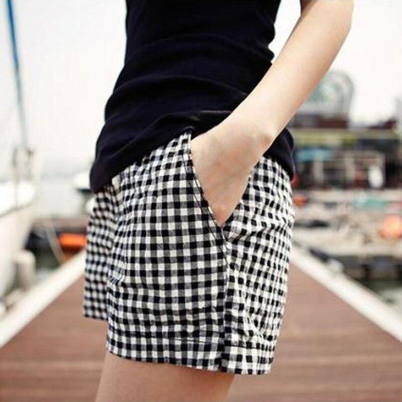 4xl Women Summer Size Shorts Wide Leg Black White