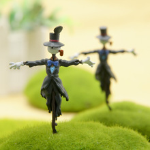 Mini Scarecrow Landscape Garden Miniatures Decoration Figures Anime Doll Miyazaki Harry's Moving Castle Terrariums Figurine Toy