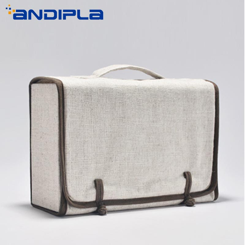 Japan Style Portable Outdoor Travel Teaware Storage Bag Quick Cup Teacups Package Handbag Linen Tea Set Bags for Kung Fu Tea Set