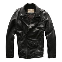 Men S Suede Leather Mens Leather Motorbike Coat Sheep Leather Vintage Rider Jacket