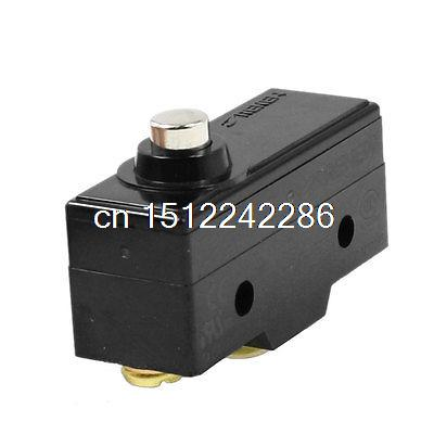 AC 250V 15A SPDT Short Push Plunger Momentary Micro Switch Microswitch 50pcs microswitch circuit 6a 250vac micro switch spdt limit switch