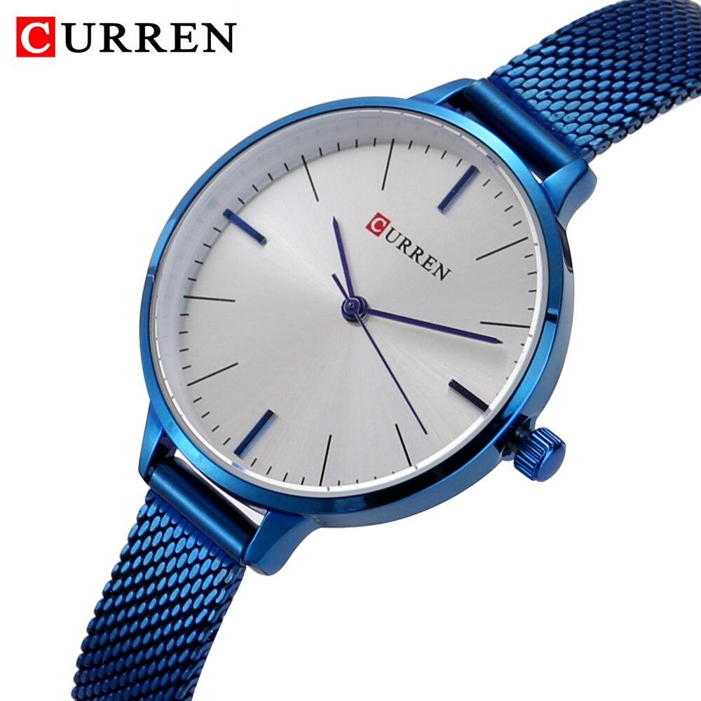 hot fashion quartz watch for women casual ladies watch free shipping waterproof elegant golden steel mesh band (26)