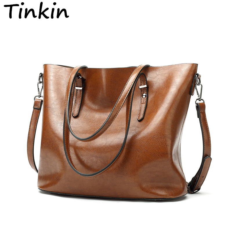 Tinkin Europe Style Shoulder Bag Retro Women Handbag High Capacity Simple Style