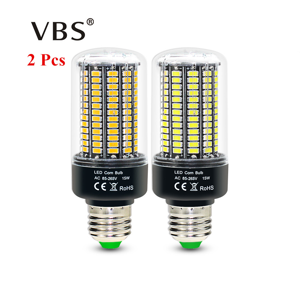 2 Pcs LED Bulb No Flicker 5736 SMD E27 E14 3.5W 5W 7W 9W 12W 15W LED Corn Bulb light 85V-265V Constant Current 28-156LEDs Lamp