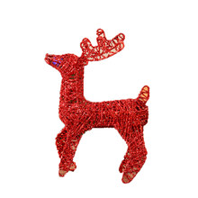 Iron Christmas Deer Decoration Reindeer Red Angel Ornaments Christmas Marry Home Decor Village Noel Addobbi Natalizi Natal 776(China)