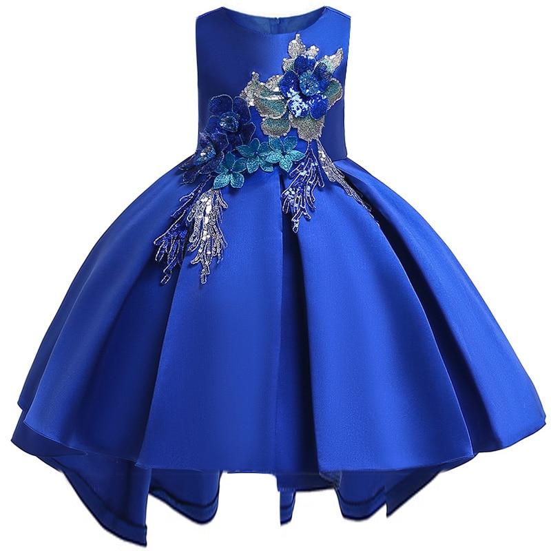 Elegant Dress For Girls  Children's Party Dress Girl First Communion Dress Kids Wedding Prom Clothing Baby Tutu Costume T5080