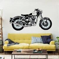バイクウォールアートステッカークラシック英語オートバイデカール車の壁紙壁画ウォールステッカー