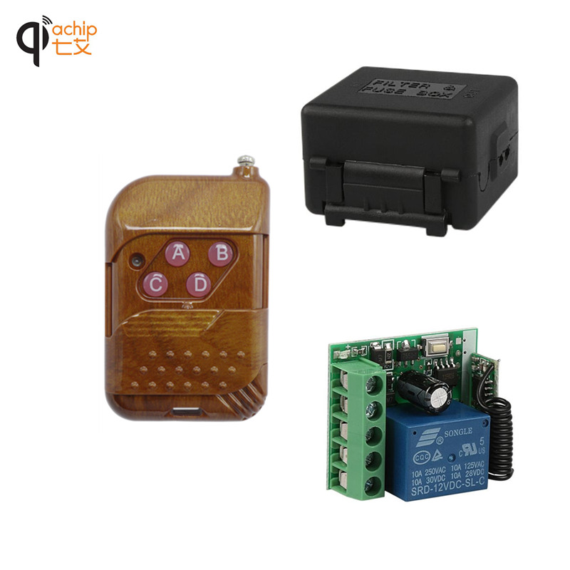 433Mhz Universal Wireless RF Remote Control Switch DC 12V 10A 1CH relay Receiver Module and 433 Mhz Remote Controls With battery