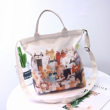 555d5bce81 2019 New Hot Fashion Women Female Japanese Students Casual Cute Cartoon  Zipper Simple Canvas Bag Shoulder