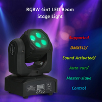 Disco Light AC110 240V 80W RGBW 4in1 LED Beam Stage Light Lighting Fixture Supported DMX512 for Home Party Festival Bar DJ Show