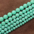 "Faceted Amazonite Color Jade 6-12mm Round Loose Beads 15"",BeadsFor DIY Jewelry Making !We provide mixed wholesale for all items!"