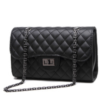 steelsir New Trendy Shoulder Bags For Women 2018 Spring Summer Casual Thick Grid Retro Female Chain Messenger Bags