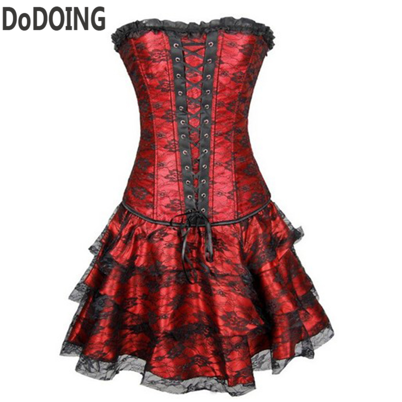 Corset Red Gothic Dress Promotion-Shop for Promotional Corset Red ...