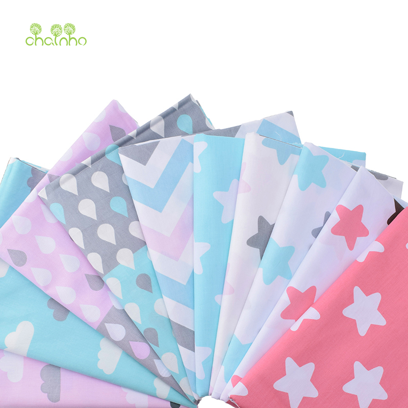 10pcs print twill cotton fabric for sewing doll baby for Cotton sewing material