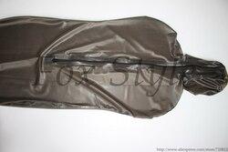 Натуральный плотный латекс, спальный мешок черного цвета