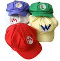 Whole Sale Price Super Mario Cotton Cap Hat Baseball Cosplay Costume Accessories Buckle Hats Adult Hats Caps Gift 5 Colors