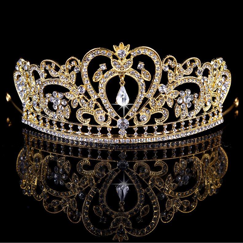 d4c9216e8929 High-end custom fashion luxury full rhinestone crystal headband women  trendy elegant tiaras queen crown bridal hair accessories
