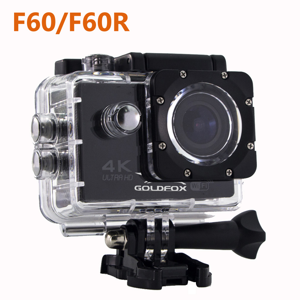 GOLDFOX 4K Ultra HD Wifi Action Camera F60 F60R 1080P 16MP 2 0 LCD 170D Lens