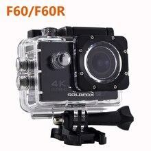 Goldfox 4 К Ultra HD Wi-Fi действие Камера F60/F60R 1080 P 16MP 2.0 ЖК-дисплей 170D объектив велосипед шлем Камера Go Водонепроницаемый про спорт Камера