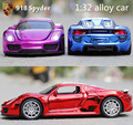 1:32 alloy plating car, high simulation supercar model sound and light back to power, children's educational toys, free shipping