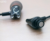 DIY IE800 GEVO Ceramic In Ear Earphones HiFi In Ear Headset HD Stereo Earplugs With Microphone