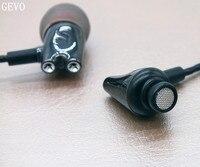 DIY IE800 GEVO Ceramic In Ear Earphones HiFi In Ear Headset HD Stereo Earplugs With Microphone