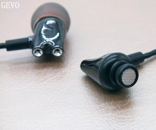 DIY IE800 GEVO Ceramic In Ear Earphones HiFi In-Ear Headset HD Stereo Earplugs With Microphone For Mobile Phone MP3 4 Player